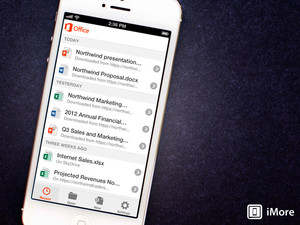 Office apps for iPhone and iPad support iCloud
