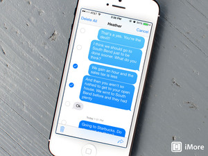 How to delete individual iMessages and texts in iOS 7