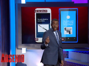 Siri gets extra sassy with Cortana on Arsenio