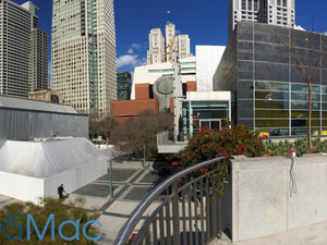 Apple constructing new building outside Yerba Buena ahead of March 9 event