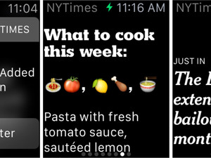 The New York Times will bring 'one-sentence stories' to the Apple Watch