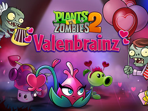 Love is in the air with Plants vs. Zombies 2's Valenbrainz event