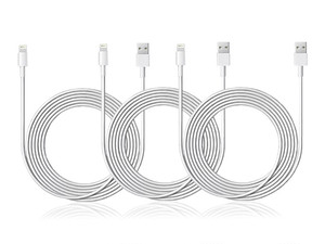Grab three long Lightning cables for just $16.99