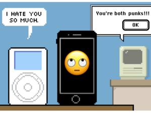 Comic: Happy Tenth Birthday to the iPhone From Your Big Brother