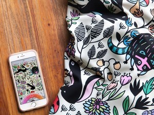 Lake Coloring collaborates with Two Dots and Spoonflower