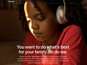 Apple 'Families': You want to do what's best for your family. So do we.