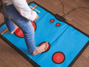 Experience '80s arcade games in a new way with this retro gaming mat