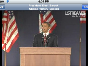 Ustream Viewer for the iPhone Now Available - Inauguration Streams Today!