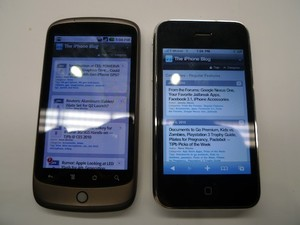 Apple iPhone 3GS vs Google/HTC Android Nexus One -- Gallery