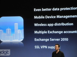 Apple ups Enterprise support in iPhone 4.0
