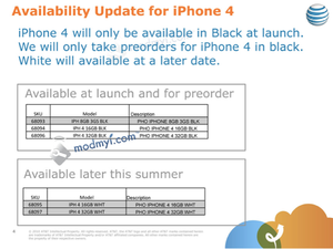 AT&T not carrying white iPhone 4 at launch?