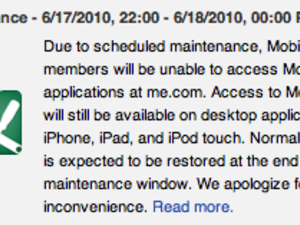 MobileMe down tonight, updated tomorrow?