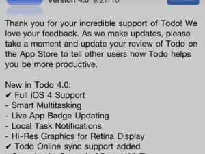 ToDo for iPhone Updated to support local notifications and much, much more...