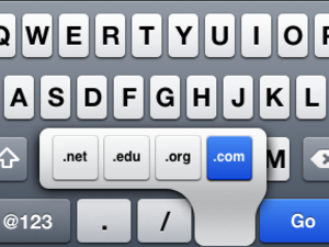 Beginner tip: How to quickly type domain suffixes on iPhone and iPad