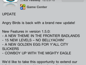 Angry Birds for iPhone/iPod Touch brings 15 new levels and more!