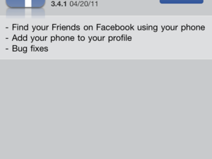 Facebook for iPhone updated with Find your Friends
