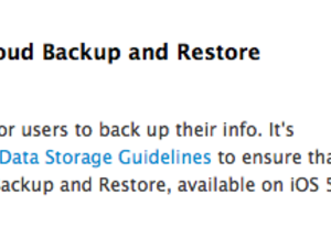 Apple tells developers to get their apps ready for iCloud Backup and Restore