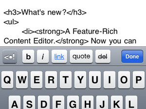 Wordpress for iPhone, iPad gets updated