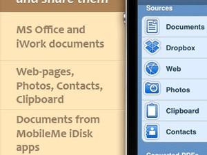 Save as PDF with PDF Printer for iPhone, iPad