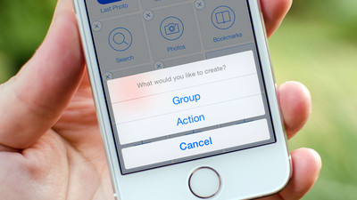 How to create groups in Launch Center Pro for iPhone and iPad