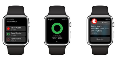 Your August Smart Lock can now be controlled from your Apple Watch