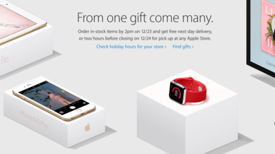 Apple Store serving up free next day delivery on Dec. 23