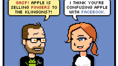 gasp! apple is selling fingers to the klingons?!i think youre confusing apple with facebook.