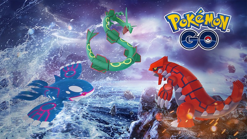 Pokémon Go: Kyogre and Groudon join Rayquaza in Raids until March 5