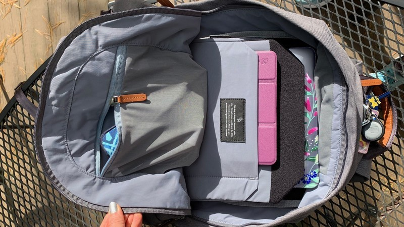A backpack MacBook bag is much better for your back!