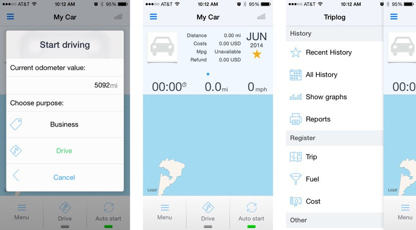Best mileage tracking apps for iPhone: Mileage Log+, Auto