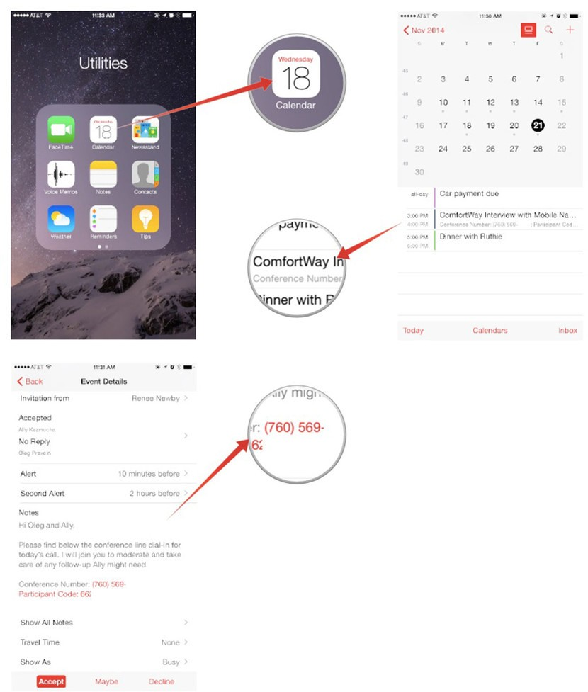 picture regarding Calendar Notes identify How toward retain the services of notes and one-way links inside Calendar for apple iphone and iPad