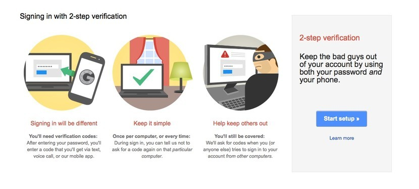 How to set up 2-step verification for Google and Gmail on