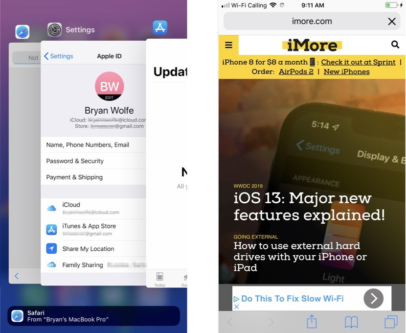 How to hide recent and favorite contacts on the app switcher
