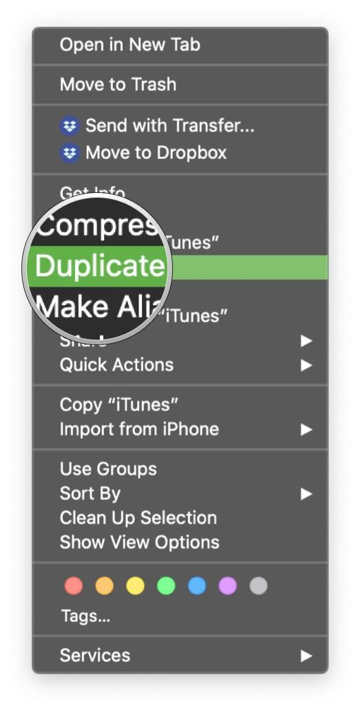 Select Duplicate from the right click menu