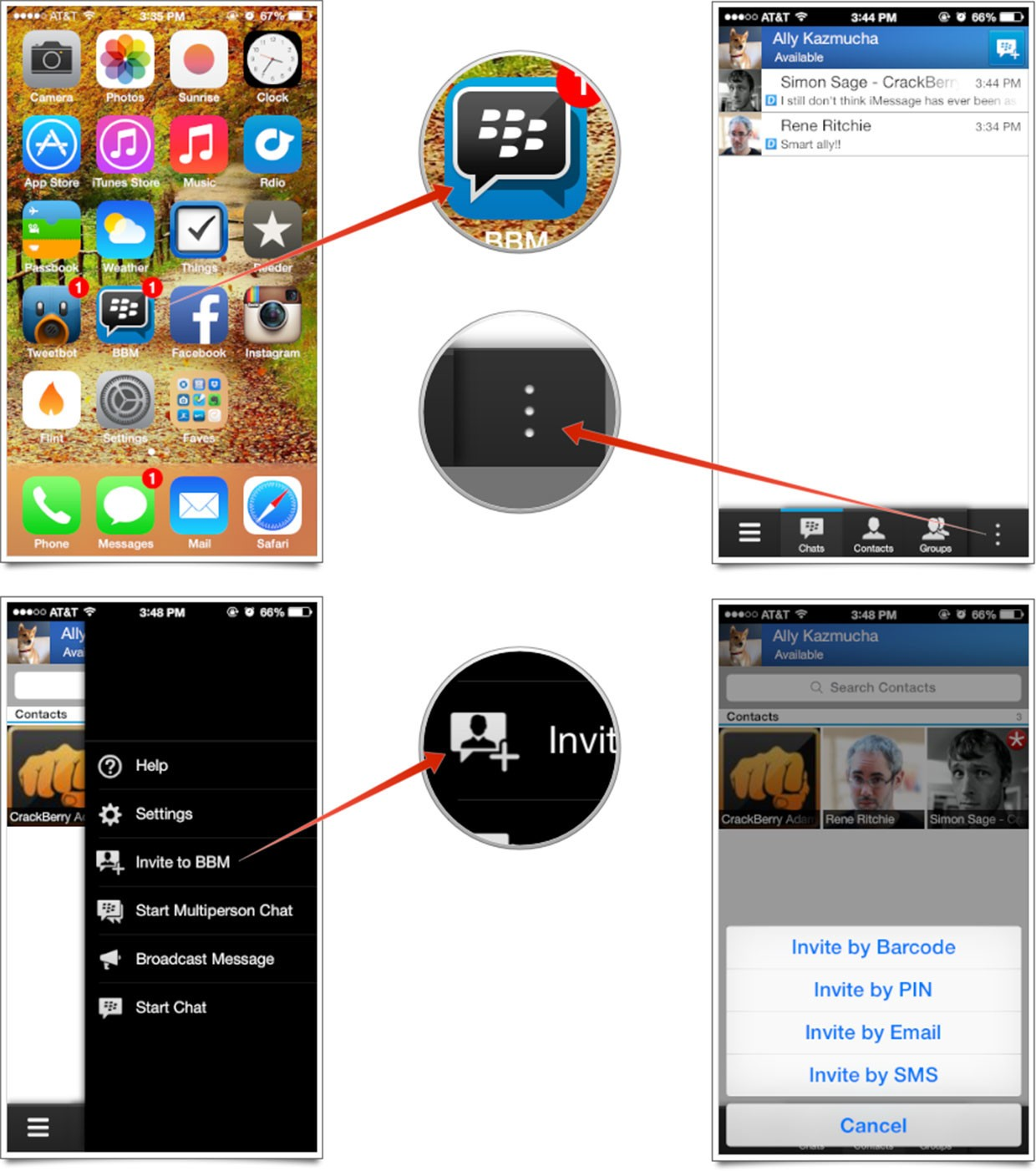 How to set up and start using bbm for iphone imore how to find your blackberry pin number reheart Image collections