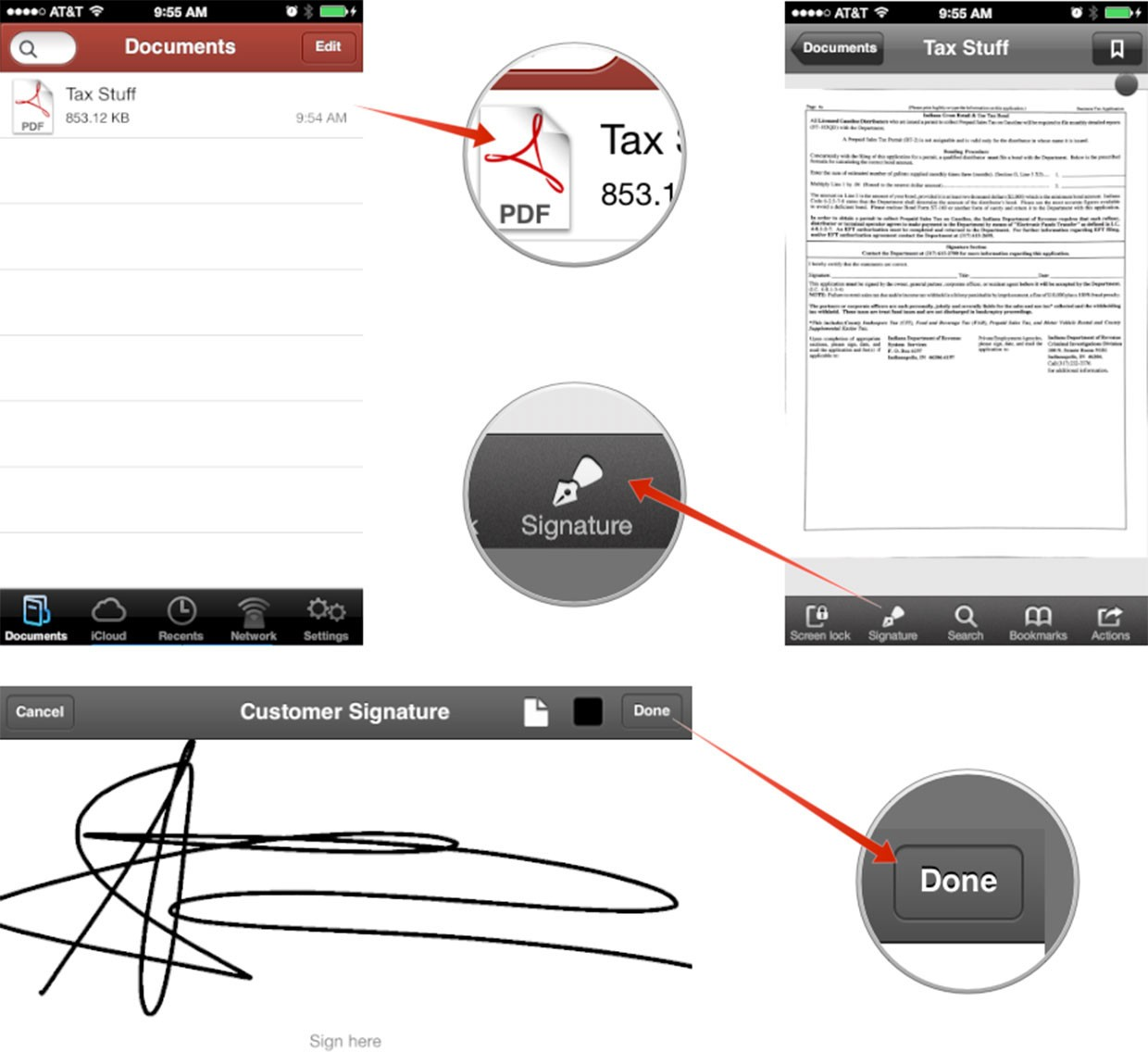 How To Scan Sign And Send A PDF From Your IPhone Or IPad No - Out of order sign pdf