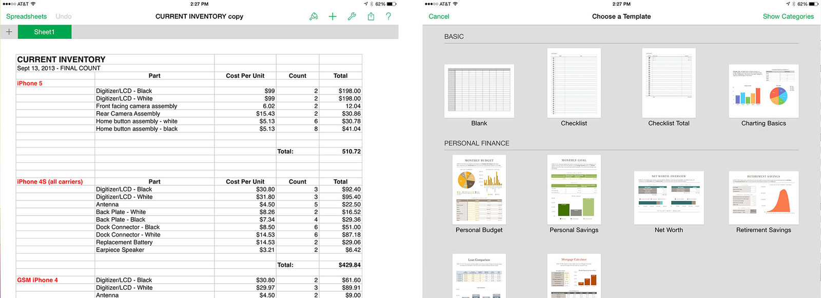 Best spreadsheet apps for iPad: Numbers, Google Drive, Microsoft