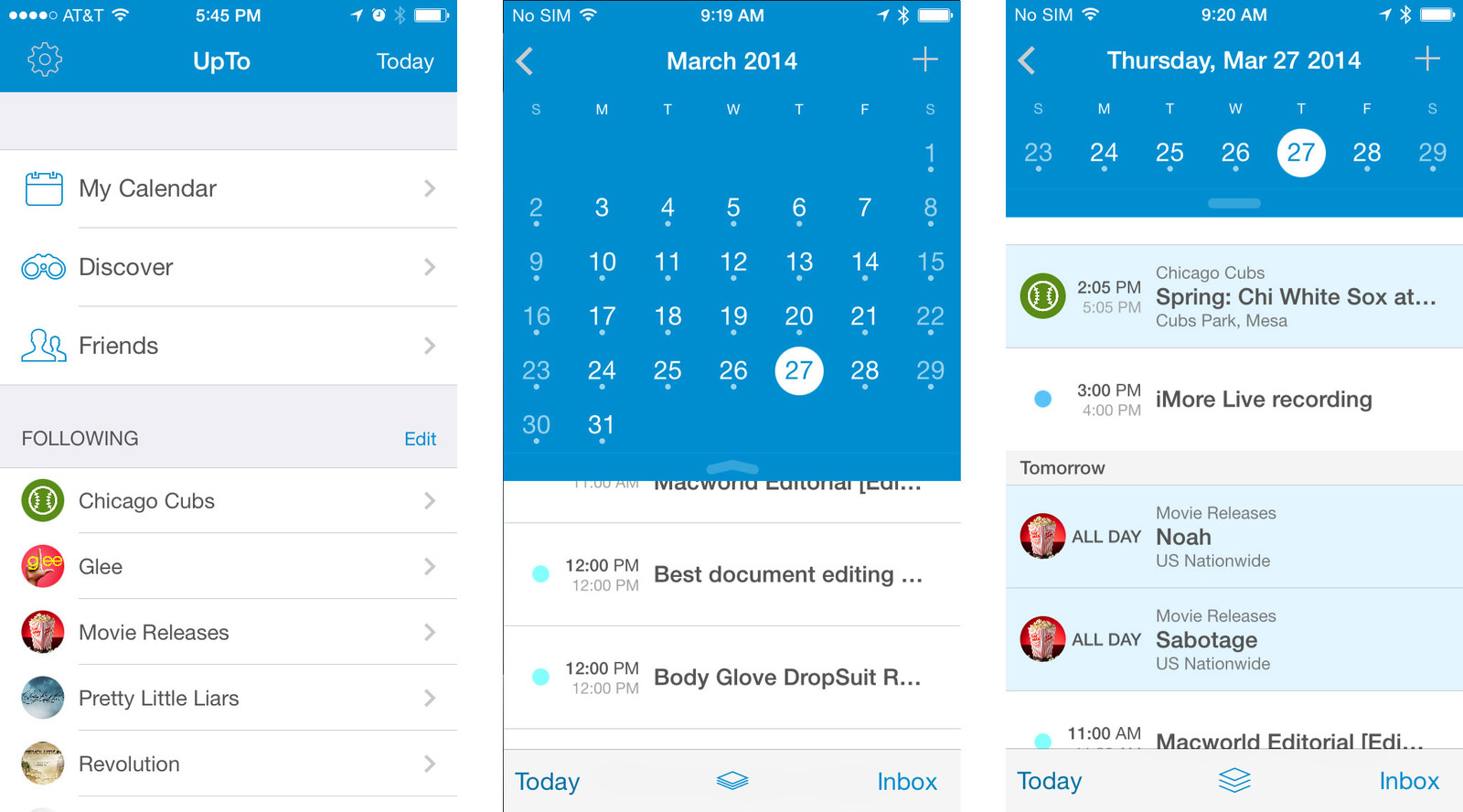 Best calendar apps for iPhone: UpTo Calendar