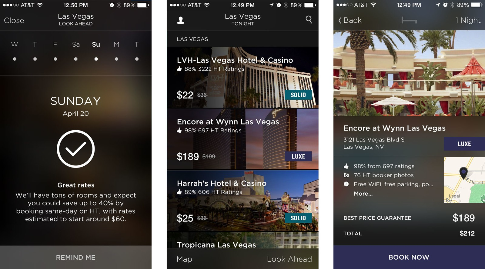 Best travel companion apps for iPhone: Hotel Tonight