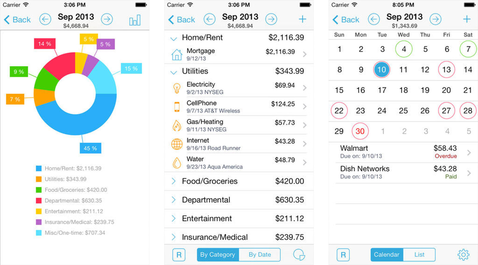 Best budget apps for iPhone: HomeBudget