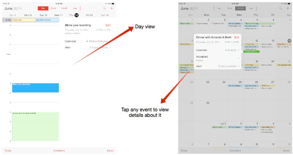 Calendrier Switch.How To Switch Calendar Views On Your Iphone Or Ipad Imore