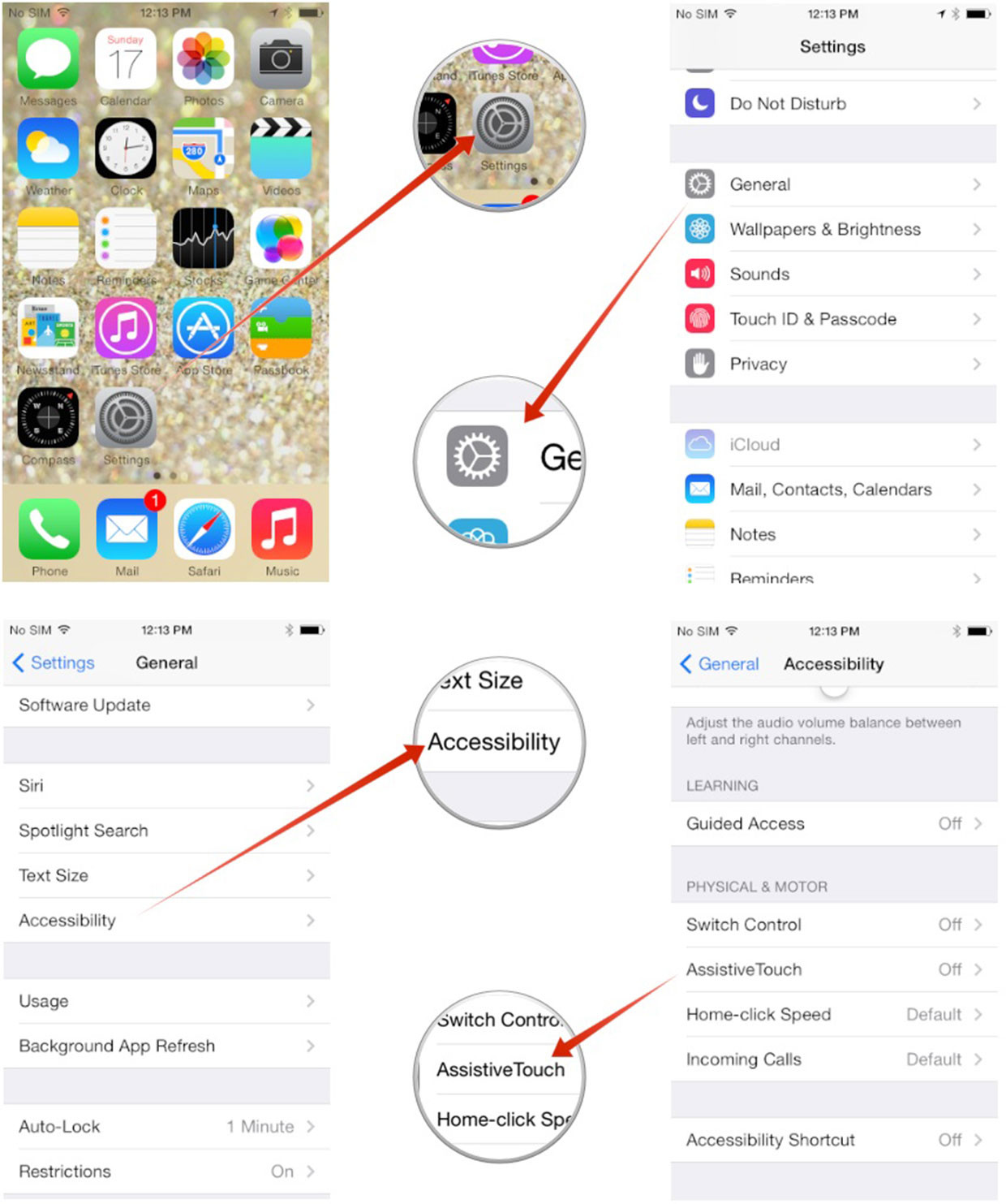 iphone x how to open options from screen