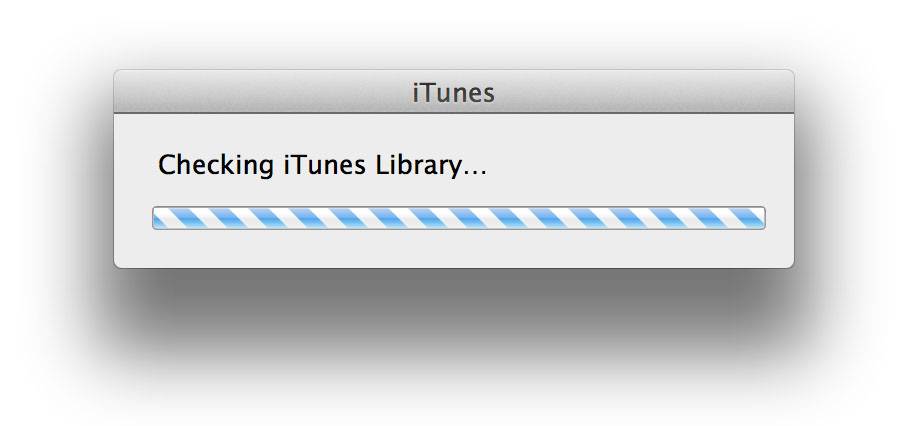 Checking new iTunes library