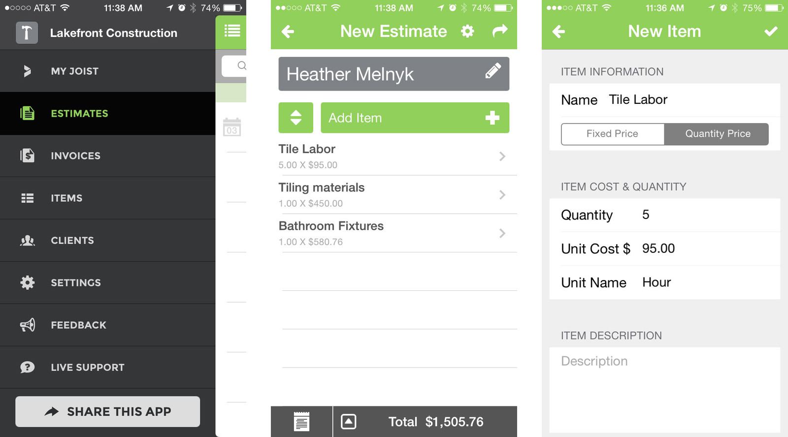 Best iPhone apps for contractors: Joist Invoicing and Estimates