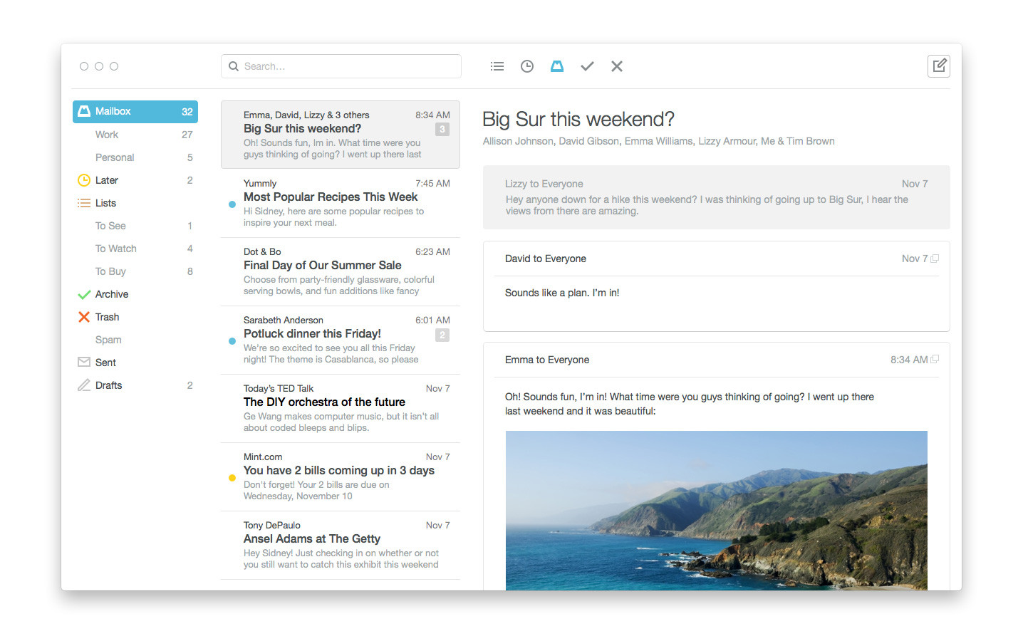 Mailbox for Mac screenshot