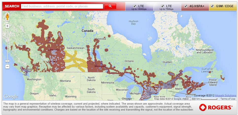 Which Canadian Carrier Should You Get Rogers Bell Or Telus IMore - Map Of Bell Telephone Coverage In The Us
