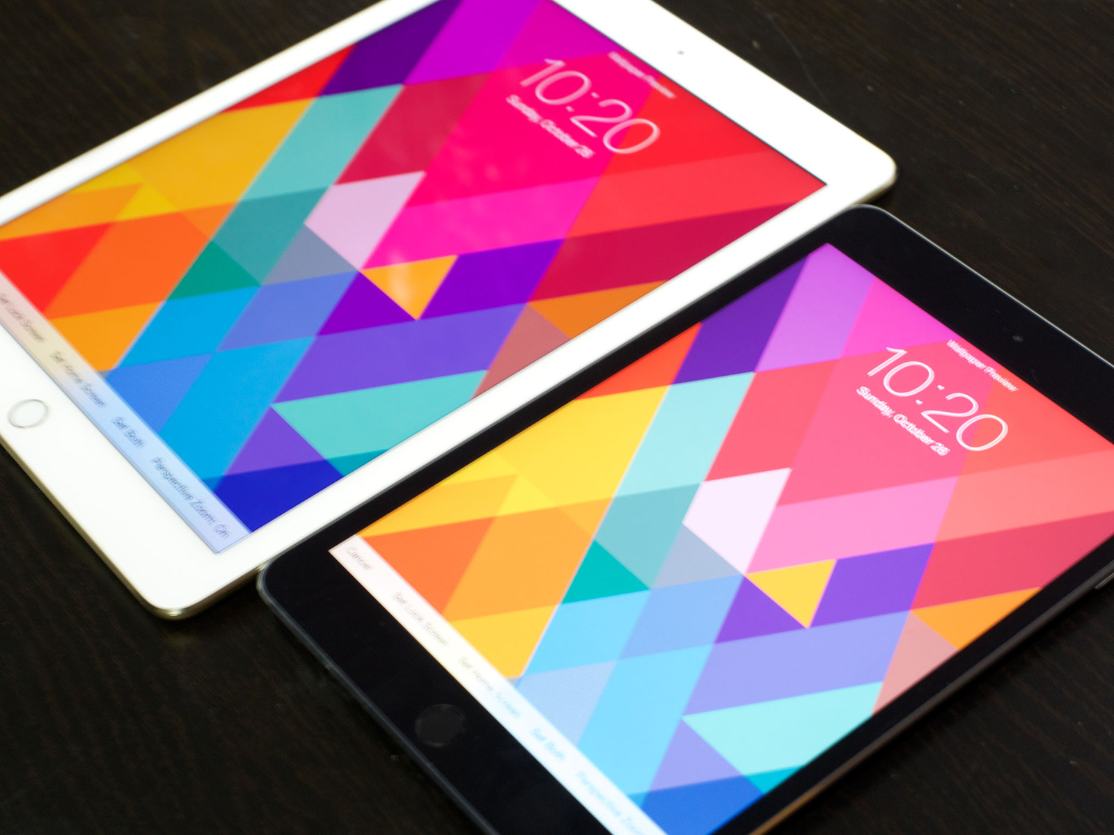 iPad Air 2 vs. iPad mini 3 color gamut