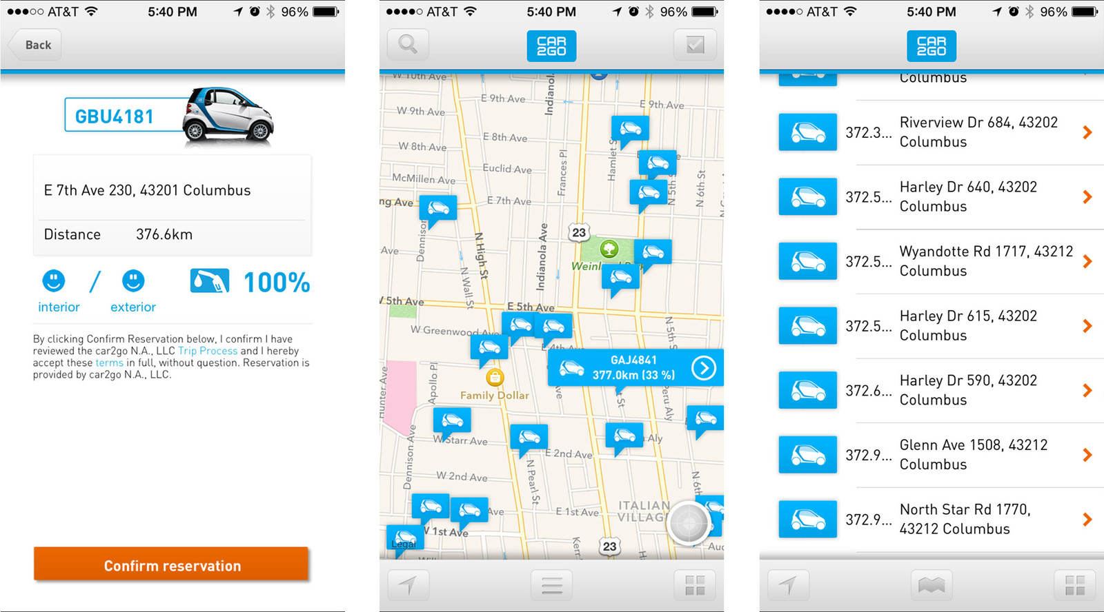 Best car rental apps for iPhone: car2go