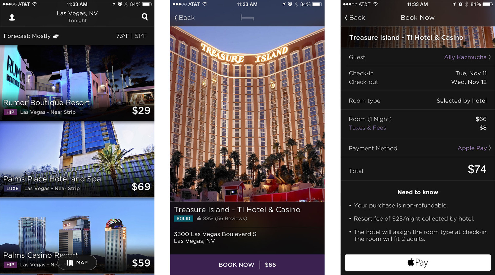 Best hotel and home rental apps for iPhone: Hotel Tonight