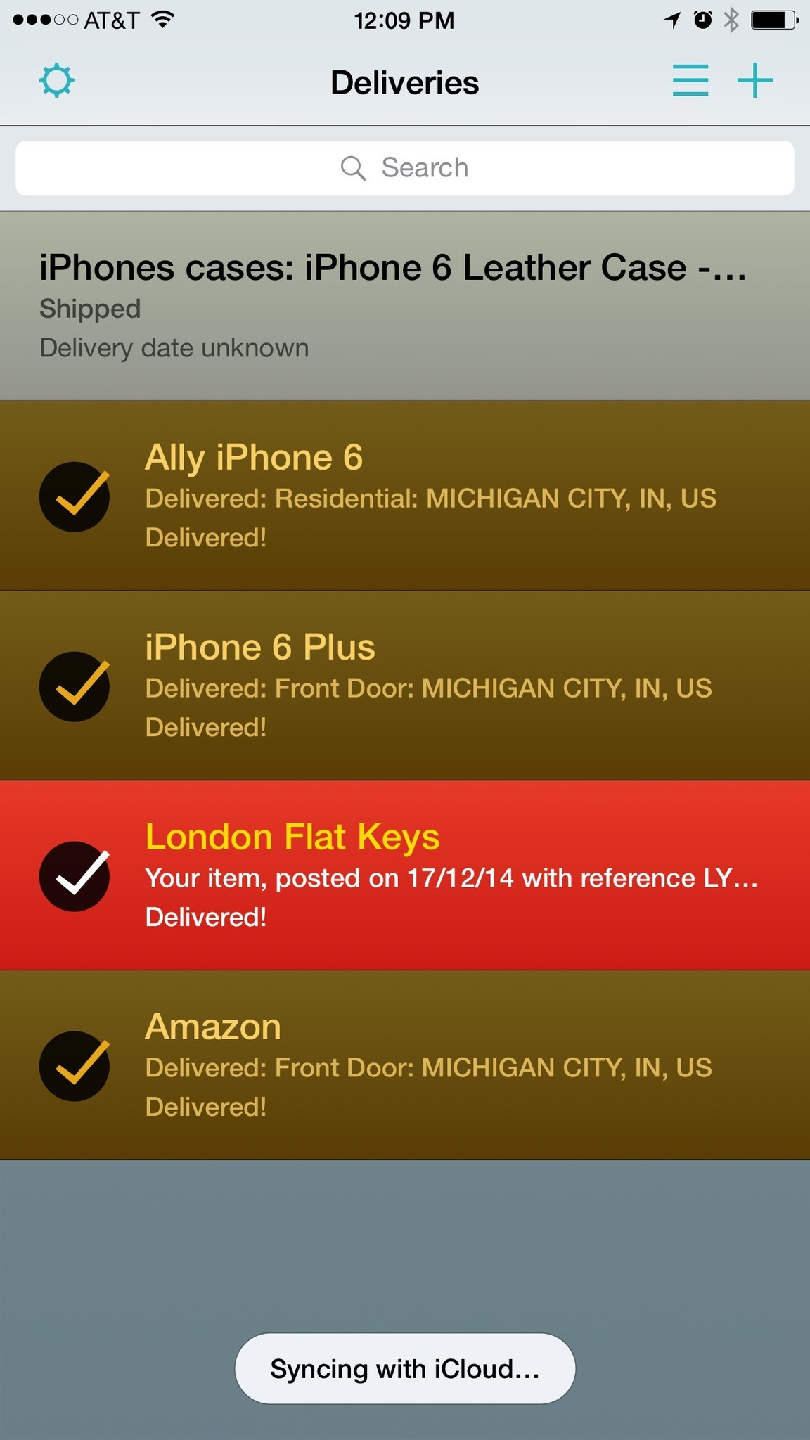 Amazing action extensions for iPhone: Deliveries